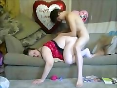 Creampie, Russian mom and son making love