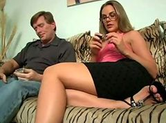 Grandpa, Grandpa with big dick fuck mother and daughter