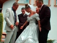 Gangbang, Bride, Wedding, Bride abused