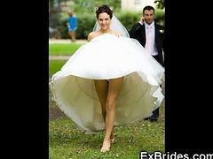 Upskirt, Bride, Wedding, Spying on mature moms upskirt cleaning