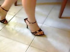 Fetish, Heels, 19 cm high heels and tight jeans hot lady