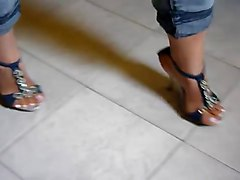 Fetish, Heels, Real forbidden amateur taboo mom wearing black stockings and high heels