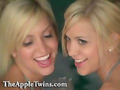 Twins, Erotic, Lesbian, Kissing, Man cock slapping plastic sex doll