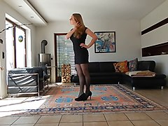 Crossdresser, Teen, Dress, Crossdresser pantyhose
