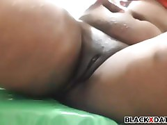 Black, Squirt, Blonde babe finger fucks her shaved pussy