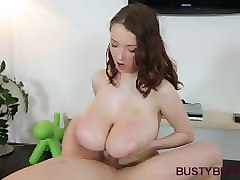 Bus, Titjob, Cumshot, Auntie and titjob