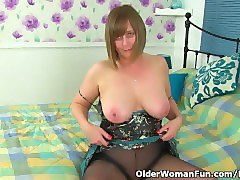 British, Tight, British milf gets creampie young guy