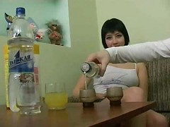 Drunk, Russian, Granny russian on webcam