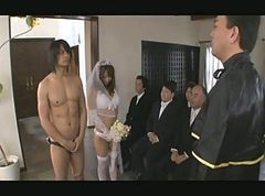 Asian, Gangbang, Japanese, Bride, Black granny dp