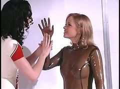 Bdsm, Blonde, Bondage, Rubber, French bondage