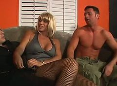 Bisexual, Threesome, Grandpa first time bisexual