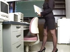 Asian, Office, Casting office first anal