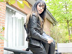 Smoking, Leather, Kissing, Femdom, Leather spurs