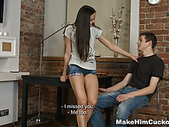 Cuckold, Abigaile johnson it was too late to stop first cuckolding