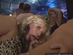 Party, Business blond cute girl fingered on bus