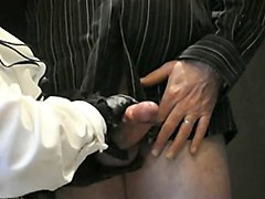 Leather, Gloves, Gloves blowjobs