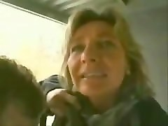Blonde, German, Milf, Son fuck mother in bathroom japan