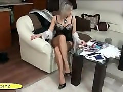 Lingerie, Milf, High heels crush rabbit