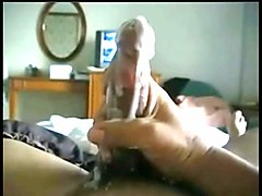 Condom, Masked wife teasing cuckold in chastity