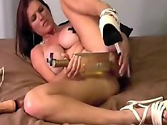 Bottle, Insertion, Dirty mature inserts unreal dildo