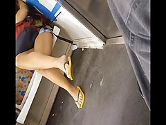 Teen, Train, Upskirt my mom in law