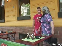 Granny, Big Tits, Japanese with big tits fuck his neighbor while husband was on a business trip