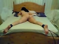 Amateur, Girlfriend, Tied, Tied up sister table fucked