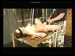 Pussy tortured tied japanese toy
