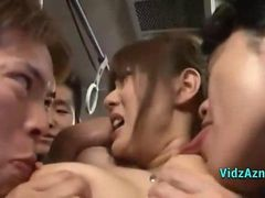 Asian, Bus, Nipples, Toys, Bus groped