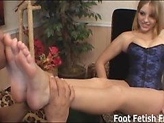 Footjob, Hubby brings a friend home for me