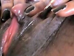 Ebony, Clit, Tight, Big Clit, Tits rubbing clit