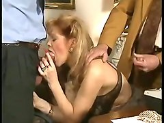 French, Classic, Ass, French mature amateur threesome mmf anal