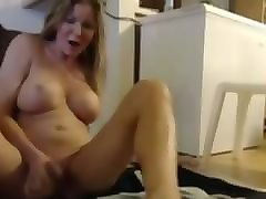 Amateur, Blonde, Wife, Milf, Homegrown horny big natural milf double anal