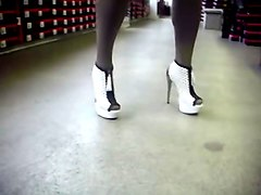 Heels, Daddy high heels and black stockings daughter
