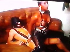 Ebony, Panties, Leather, Sperm, Leather pants pee
