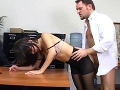 Bus, Panties, Office, Pantyhose, Retro secretary anal
