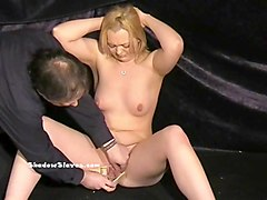 Blonde, Slave, Uncensored japanese beauty deep pussy creampie