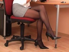 Black, Panties, Pantyhose, Secretary, Quickie secretary