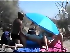 Wife, Beach, Wife fucked by stranger in public