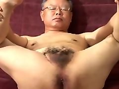 Old Man, Japanese old man licks grandaughter pussy