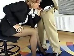 Panties, Footjob, Pantyhose, Secretary, Footjob school girl