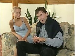 Blonde, She knows is being recorded his upskirt