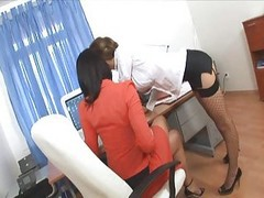 Office, Secretary, Threesome, Japan office bigtits