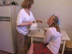 Mom, Russian, Russian mom 7 mature with a young man