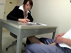 Panties, Footjob, Pantyhose, Mom and girl handjob footjob men