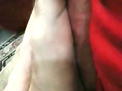 Amateur, Fetish, Footjob, Gay nylon footjob