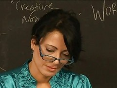 Lesbian, Teacher, Mature, Teacher getting punishment from student spank