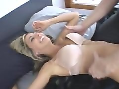 Blonde, She wants anal creampie