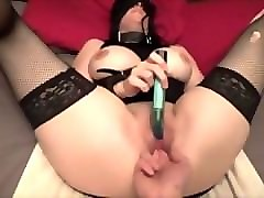 Tied, Wife masturbates watching husband fuck another woman joins withstrapons