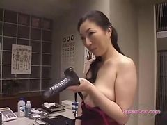 Asian, Lingerie, Strapon, Cumshot, Shemale lingerie